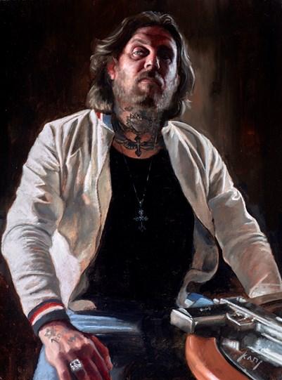 Viktor by Vincent Kamp - Varnished Original Painting on Stretched Canvas
